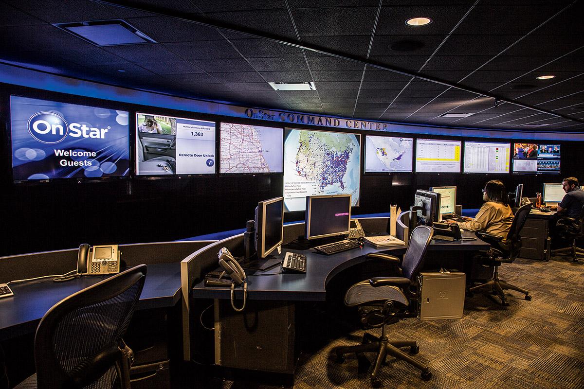 Zentrale des Telematik-Dienstes OnStar von General Motors in Detroit